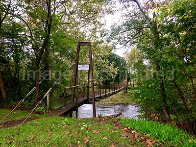 Rockbridge Baths VA swinging bridge