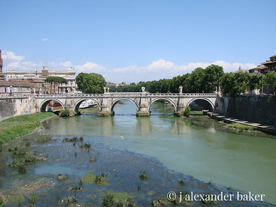 The silty Tiber - Ponte St. Angelo, Rome