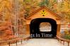Vermont bridge with maples
