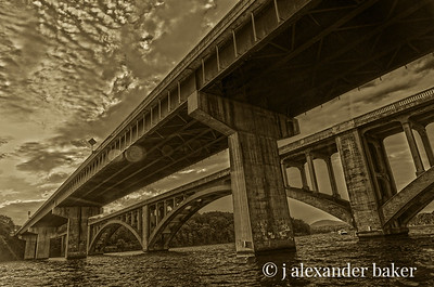 Lake Tillery Bridges, North Carolina