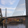 Penobscot Narrows Bridge and Observatory, the old bridge and the new...