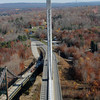 Penobscot Narrows Bridge and Observatory, the old and the new, as seen from the observatory...