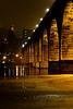 Stone Arch Bridge in light rain