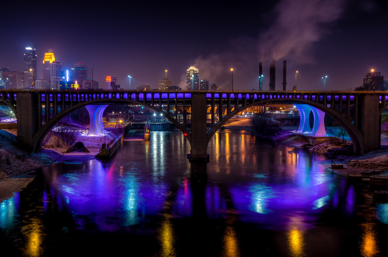 Purple 35W Bridge