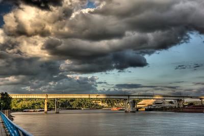 Lafayette Bridge in Sunlight