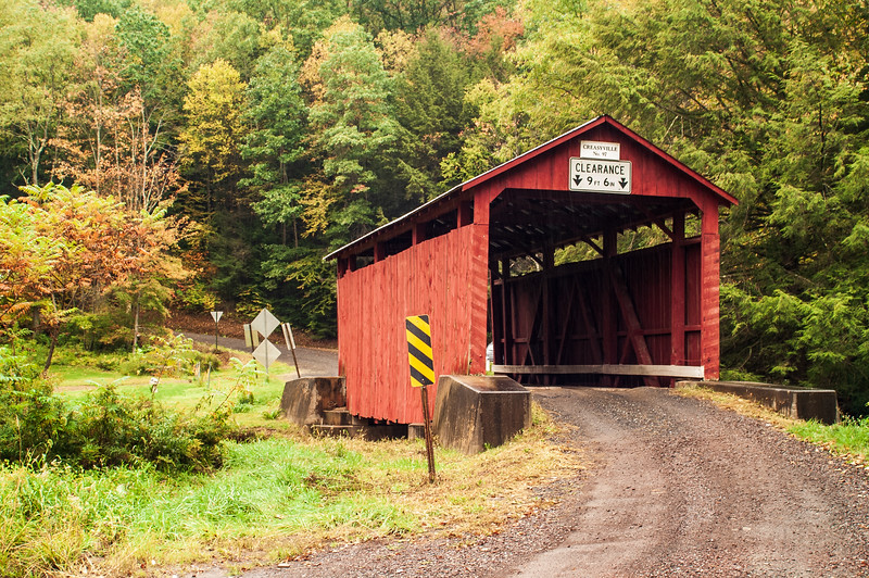 Creasyville Covered Bridge, nr Benton, Columbia County, Pennsylvania