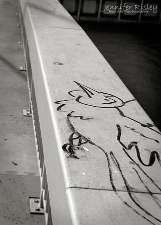 Passerelle du Palais de Justice Graffiti