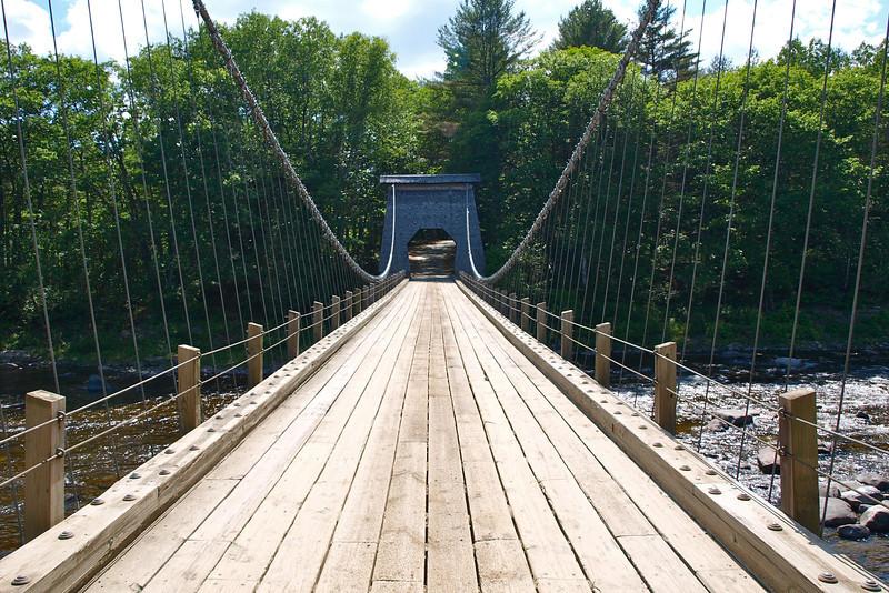Wire Bridge, New Portland, ME