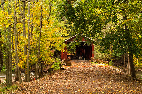 Josiah Hess Covered Bridge, Winding Road, Fishing Creek Township, Pennsylvania