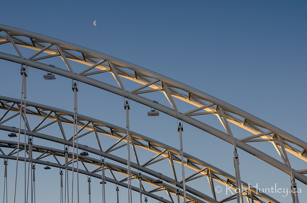Vimy Memorial Bridge and the moon