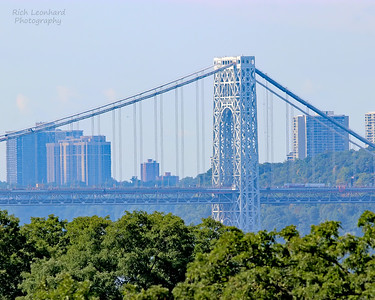 George Washington Bridge as seen from Wave Hill in the Bronx, NY.