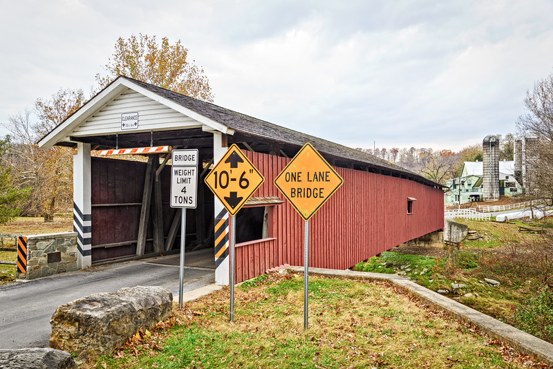 Jackson's Mill Covered Bridge, Mount Pleasant Road, Bart Township, Pennsylvania