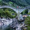 Roman bridge on the river Verzasca, Verzasca valley