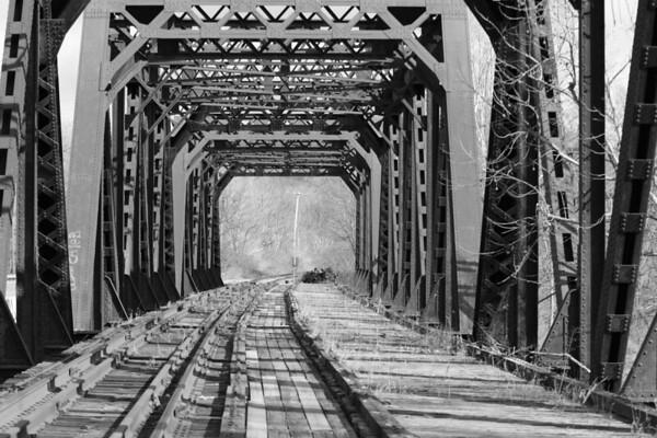 Railroad Bridge over Whitewater River near the Great Miami River.