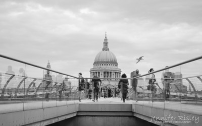 Millennium Bridge & St. Paul's Cathedral