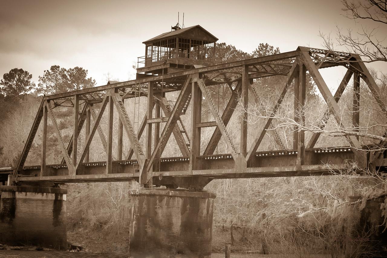 Railroad bridge in Lumber City, Georgia