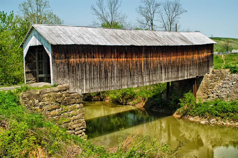 Hillsboro Covered Bridge   (also known as the Grange City Covered Bridge), Fleming County, Kentucky