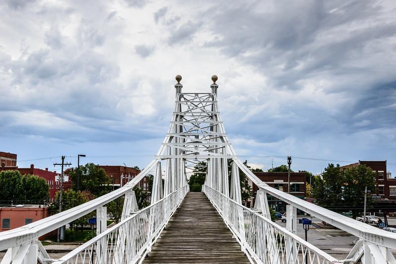 Jefferson Avenue Footbridge, 201 East Commercial Street (C-Street), Woodland Heights, Springfield, Missouri