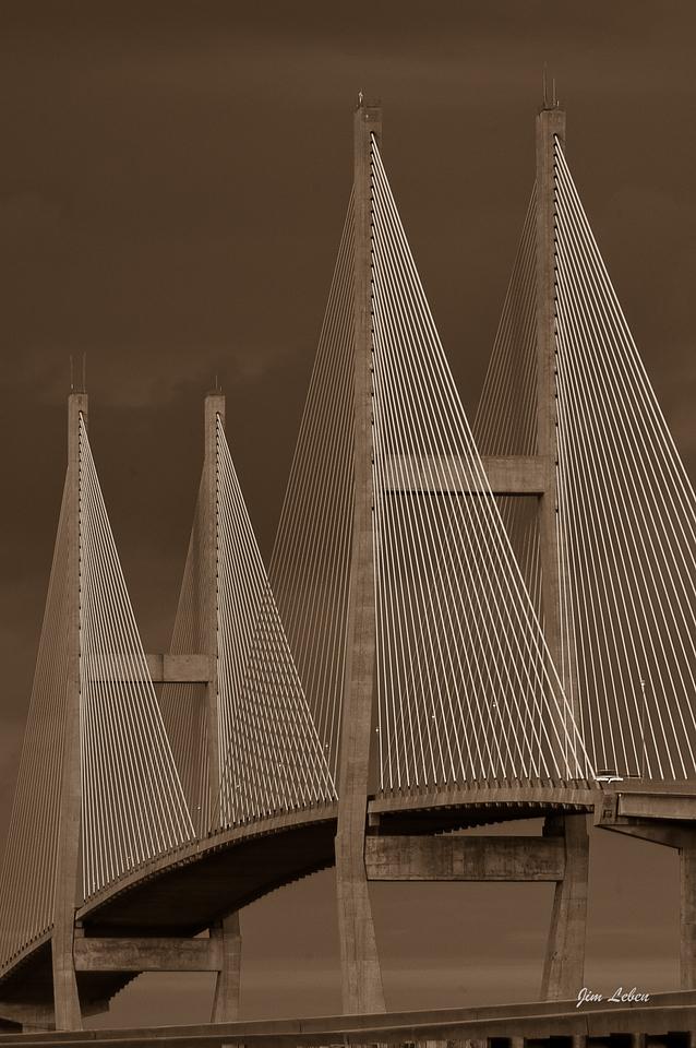 Sidney Lanier Bridge in Brunswick, Georgia