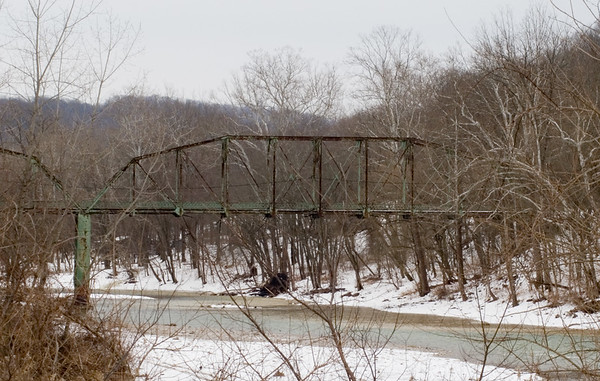 Cedar Grove Bridge in Indiana.  Can be seen from River Road, off Rt. 1.