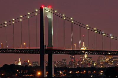 Whitestone Bridge with Manhattan in background
