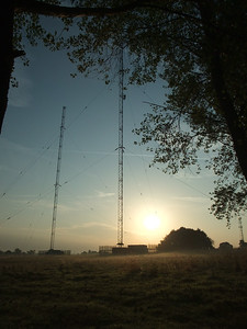 Sunrise over Droitwich Radio Masts