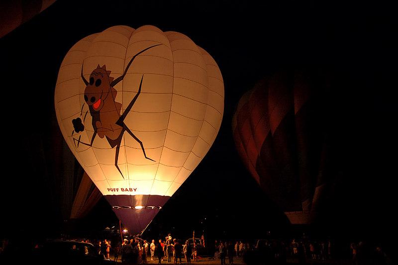 Balloon Glow on front yard - June 29, 2006