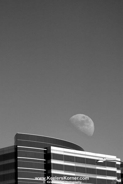 Day Moon Over Treat Towers, Pleasant Hill, Ca.