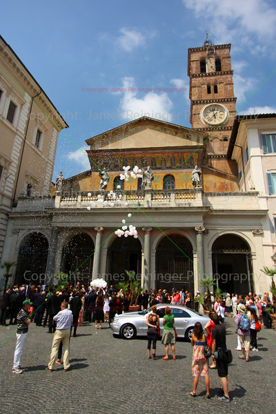 Wedding at Basilica of Our Lady in Trastevere
