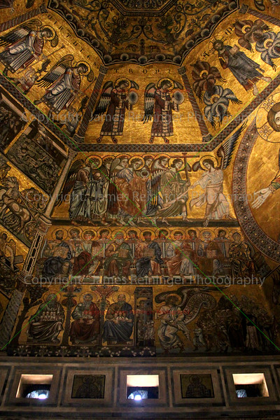Last Judgement (detail of the The Saved) by  Coppo di Marcovaldo