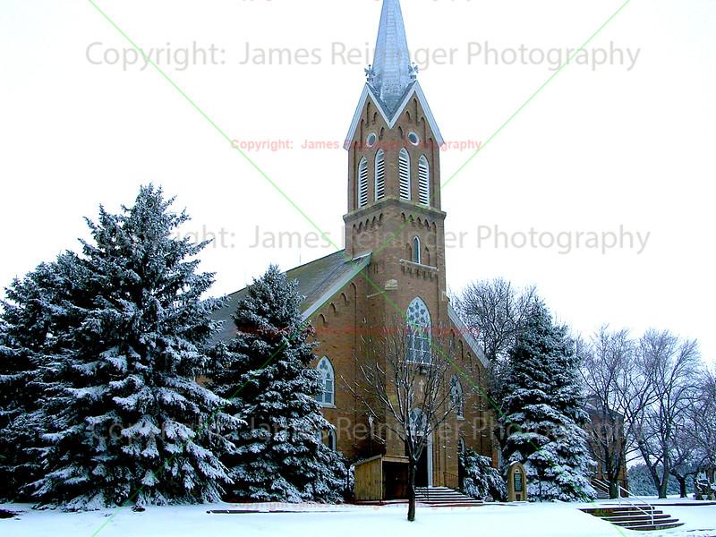 Rural Church in Snow