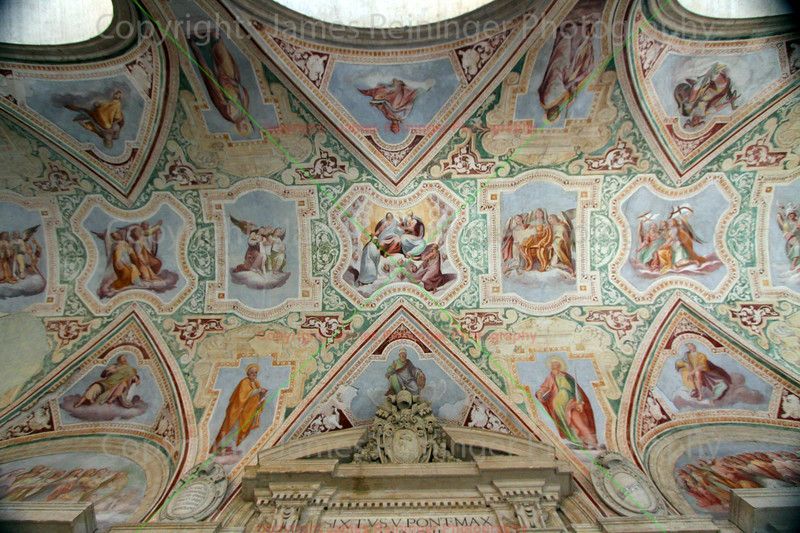 Ceiling of North Entrance