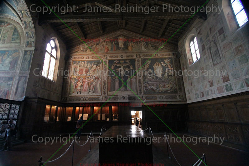 The four frescoes in the Sacristy
