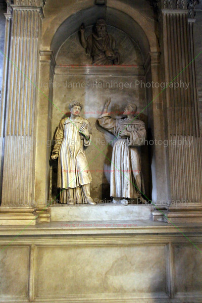 Saint Lawrence and Saint Francis with God the Father