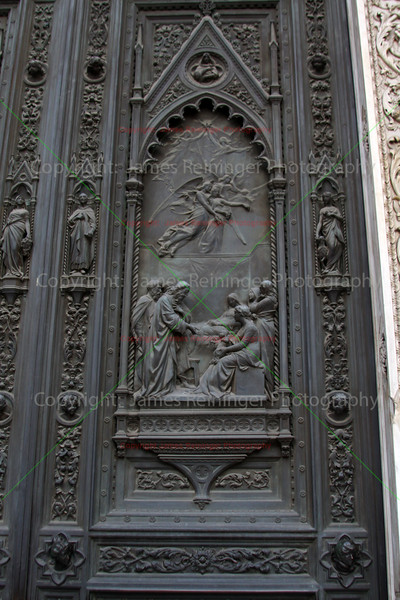 Detail view of the Right Portal of the Duomo