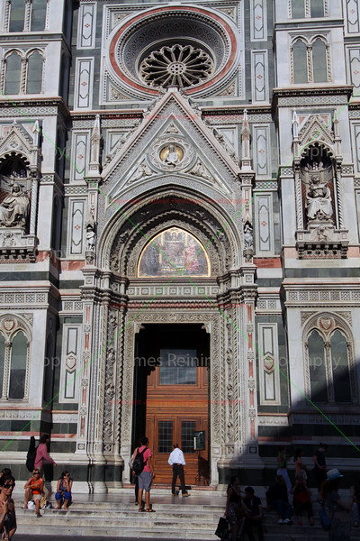 Left side door of the Duomo