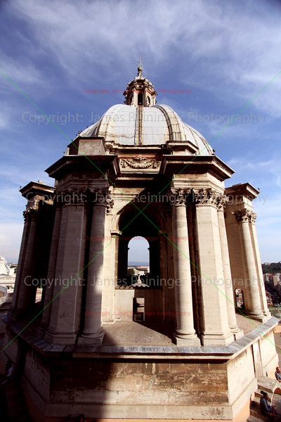 View of Rome<br /> Basilica of Saint Peter<br /> Vatican City<br /> Rome, Italy