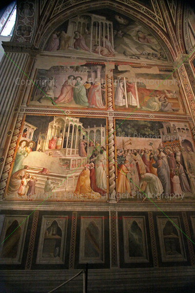 Presentation of the Virgin at the Temple & Presentation of Jesus at the Temple by Taddeo Gaddi.