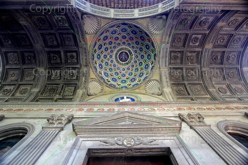 Dome in the porch by Luca della Robbia
