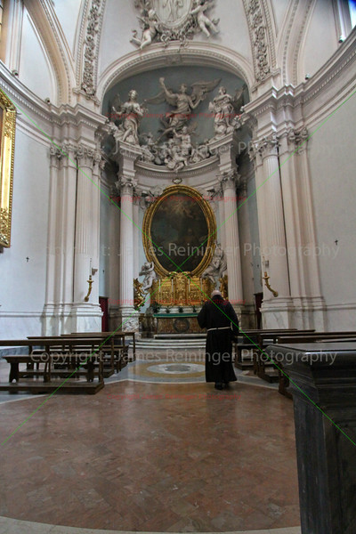 Monk in the Lancellotti Chapel