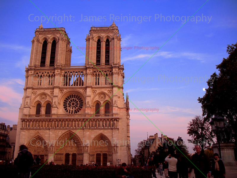 Norte Dame at Dusk<br /> Paris, France
