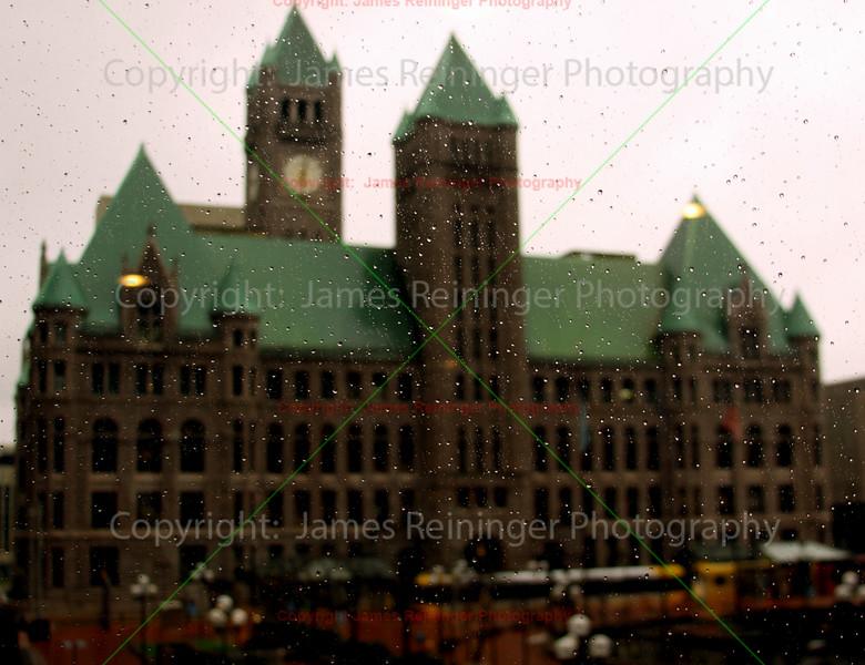 Minneapolis City Hall in Rain