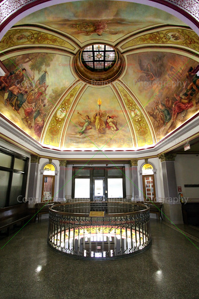 Rotunda of the Martin County Courthouse<br /> Fairmont, Minnesota<br /> <br /> Built. 1907<br /> Style:  Beaux Arts<br /> Architect:  Charles E. Bell & F. Rorbeck