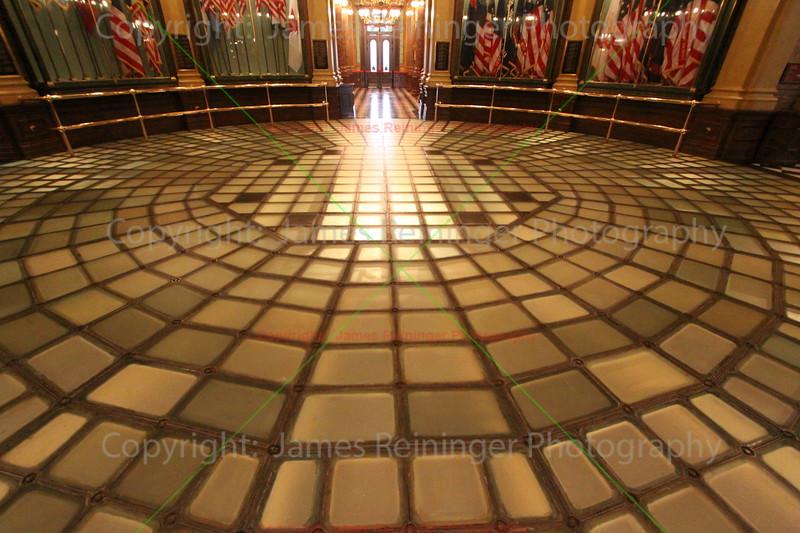 Glass floor of the Rotunda