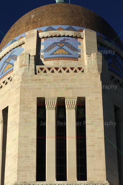 Close up of Golden Dome, Thunder Birds, & Egyptian Pillars