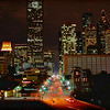 Downtown Houston, looking South from UH Downtown elevated plaza. Dec 16, 2009