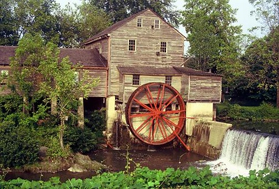 Old Mill in Pigeon Forge, Tennessee, 1980's. Converted to digital from 35MM slide.