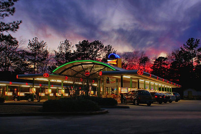 Texas sunset at Sonic