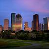 Sunset on Downtown Houston, 2009.