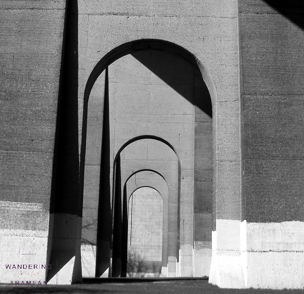 Under the Hell's Gate bridge